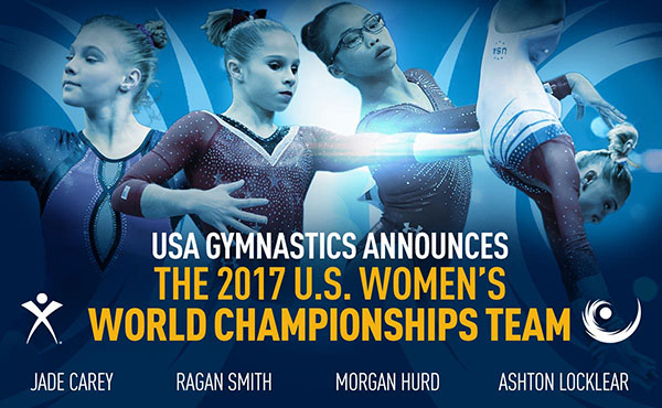 USA Gymnastics names U.S. Women's Team for 2017 World Championships