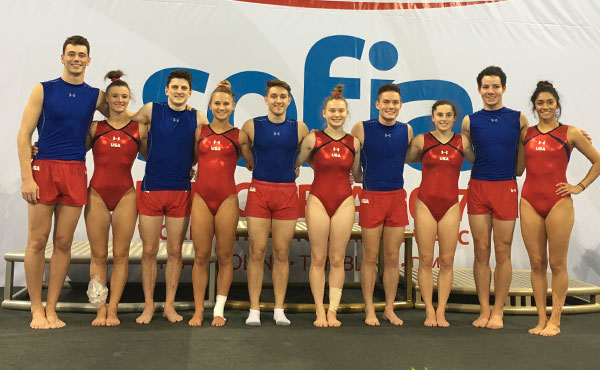 USA advances to men's and women's tumbling team finals, trampoline semifinals at 2017 World T&T Championships